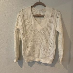 Philosophy white sweater